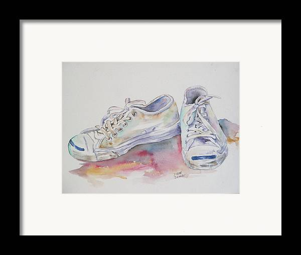 Framed Print featuring the painting They Were White by Diane Ziemski