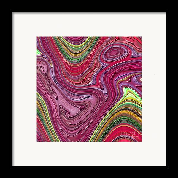 Colorful Framed Print featuring the digital art Thick Paint Abstract by Melissa A Benson