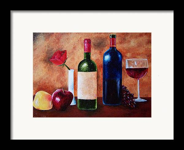 Still Life Framed Print featuring the painting Thicker Than Wine by Brandon Sharp