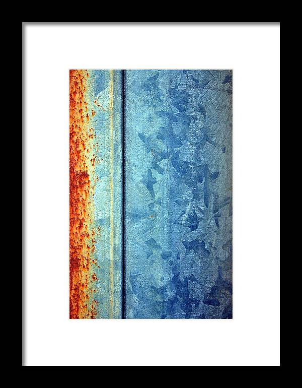 Abstract Framed Print featuring the photograph Things Found In Alleys One by Heather S Huston