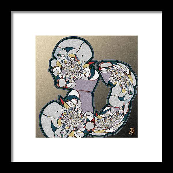 Abstract. Framed Print featuring the digital art Think About It by John Helgeson
