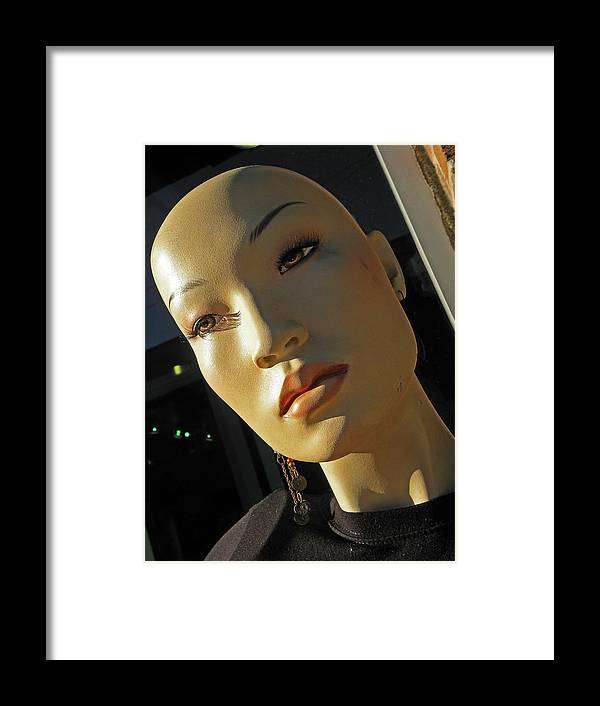 Mannequins Framed Print featuring the photograph Think Twice by Elizabeth Hoskinson