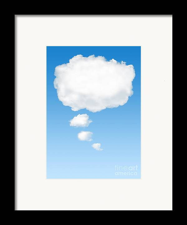 Background Framed Print featuring the photograph Thinking Cloud by Carlos Caetano