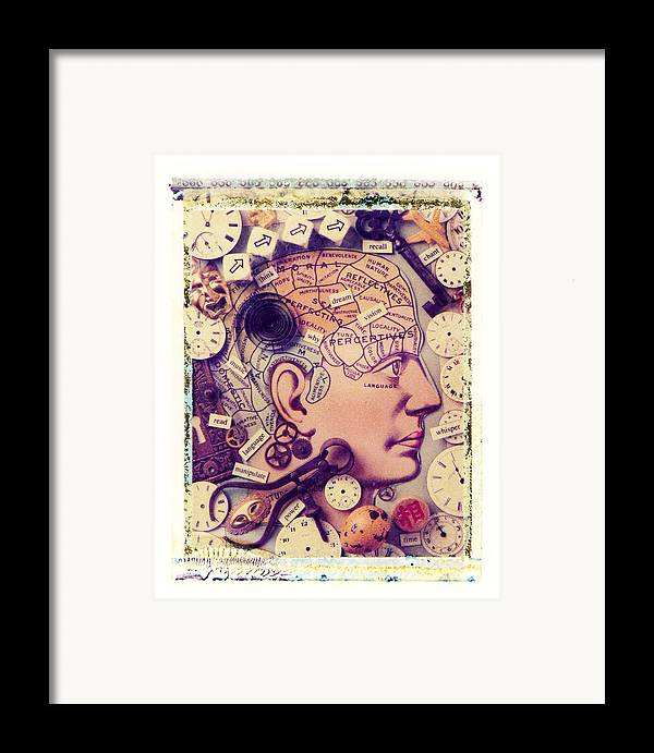 Thinking Think Thought Process Mind Brain Eye Lips Framed Print featuring the photograph Thinking by Garry Gay