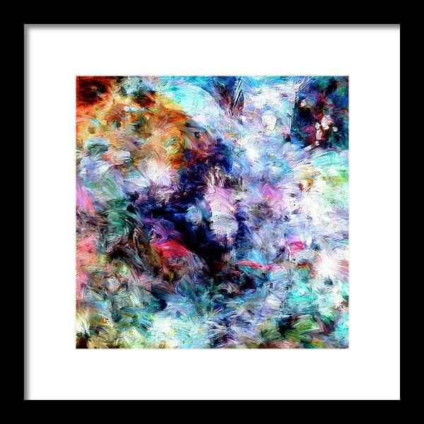 Abstract Framed Print featuring the painting Third Bardo by Dominic Piperata