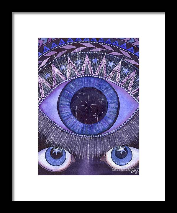 Thrid Eye Framed Print featuring the painting Third Eye Chakra by Catherine G McElroy