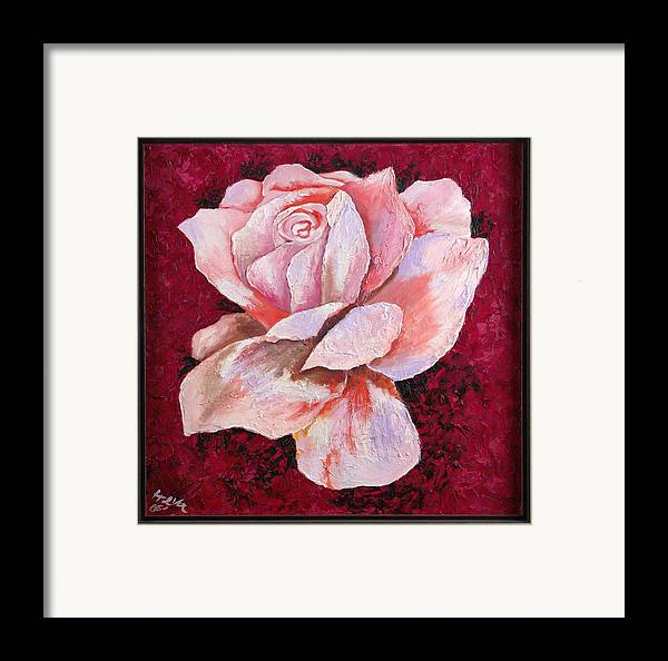 Flowers Framed Print featuring the painting Third Passion by Helene Lagoudakis
