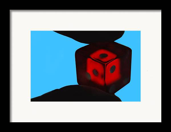 Dice Framed Print featuring the photograph Thirds by Dan Holm