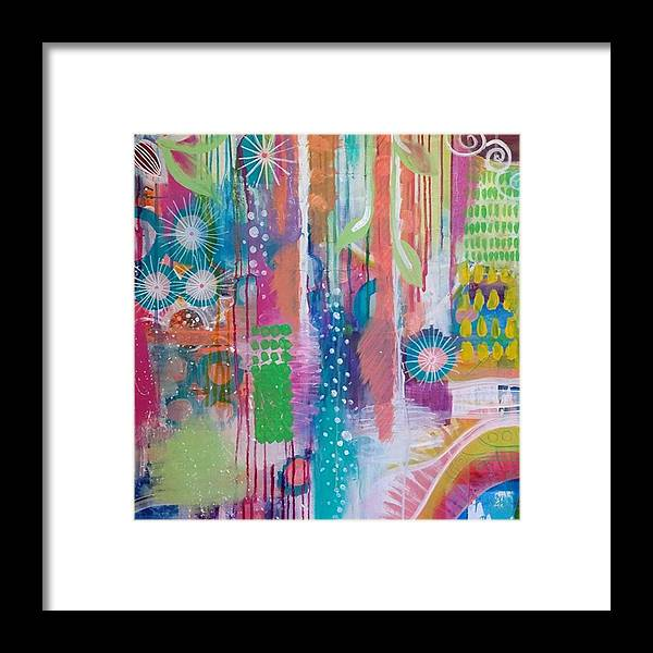 Rainbow Framed Print featuring the photograph This Is A Litttle Section Of A Large by Robin Mead