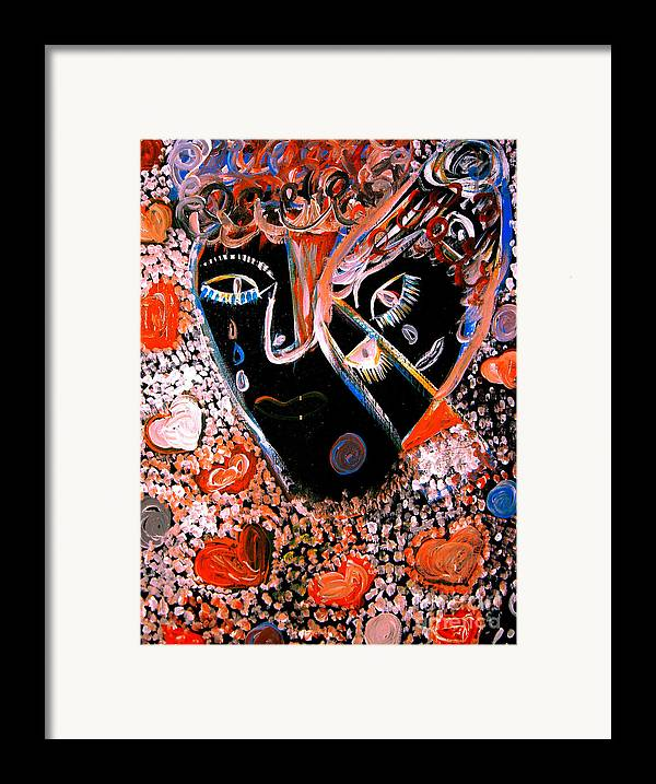 Psychedelic Framed Print featuring the painting This Is Not Love Dear by Safak Tulga