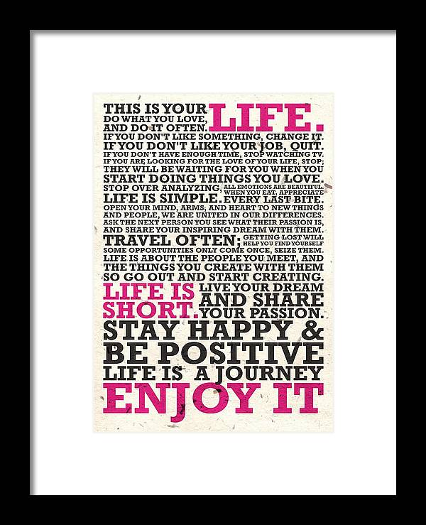 This Is Your Life Do What You Love Inspirational Quotes Poster Delectable This Is Your Life Quote Poster