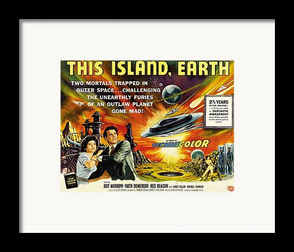1950s Movies Framed Print featuring the photograph This Island Earth, Faith Domergue, Rex by Everett