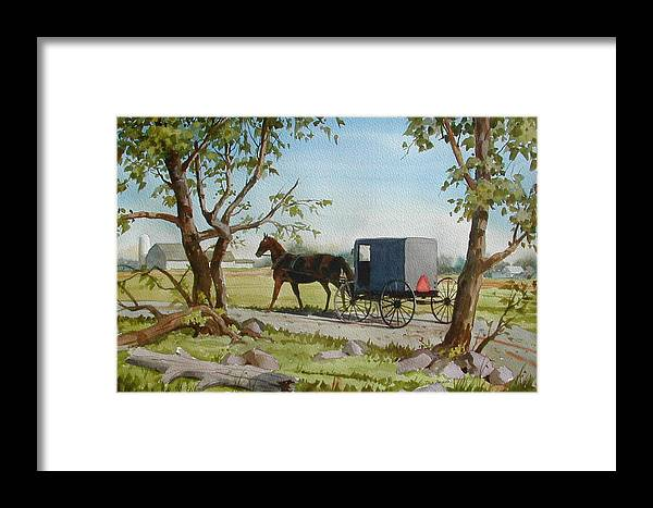 Landscape Framed Print featuring the painting This Side Of Paradise by Faye Ziegler