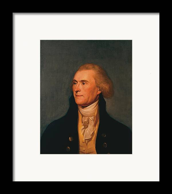 Thomas Jefferson Framed Print featuring the painting Thomas Jefferson by War Is Hell Store