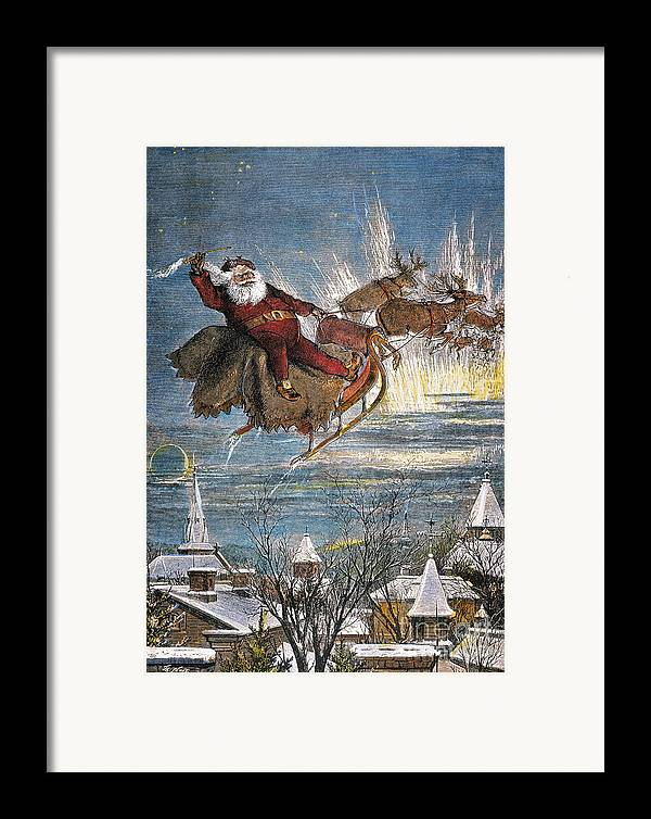 19th Century Framed Print featuring the photograph Thomas Nast: Santa Claus by Granger