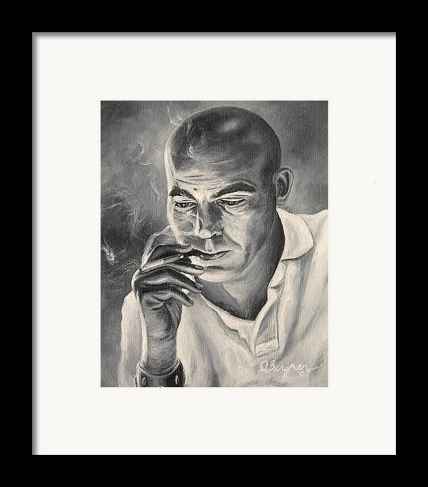 Hst Framed Print featuring the painting Thompson For Sheriff by Daniel Bergren