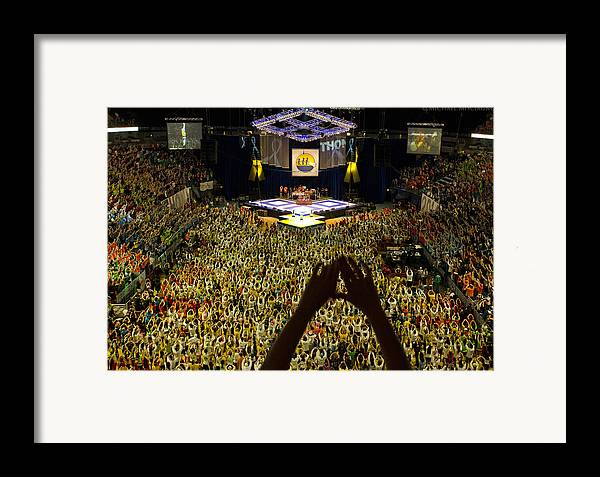 Thon Framed Print featuring the photograph Thon Diamonds Up by Michael Misciagno