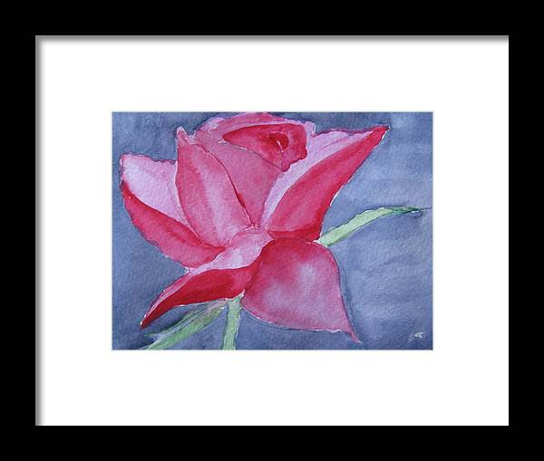Rose Framed Print featuring the painting Thorn Free by Trilby Cole