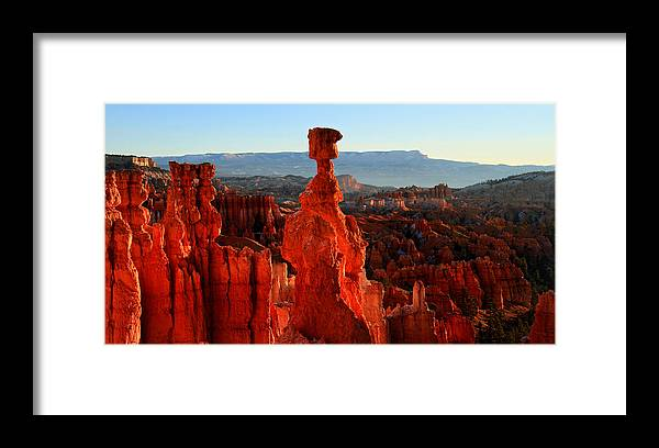 Bryce Framed Print featuring the photograph Thor's Hammer In Bryce Canyon At Sunrise by Pierre Leclerc Photography