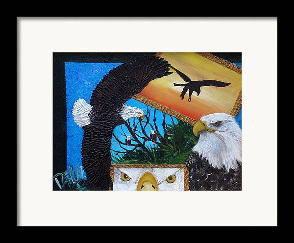 Eagle Framed Print featuring the painting Those Eyes  Eagle by Darlene Green