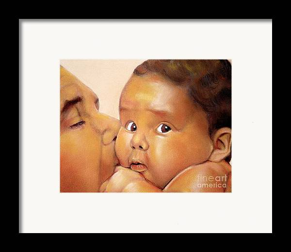 Those Eyes Framed Print featuring the pastel Those Eyes by Curtis James