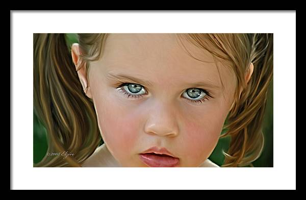 Framed Print featuring the painting Those Eyes by Elzire S