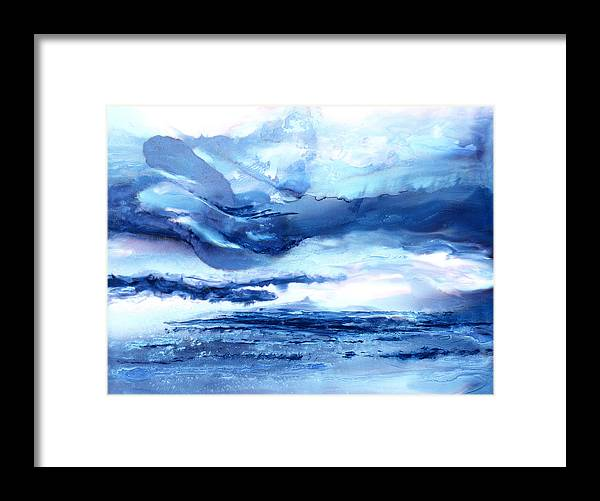 Abstract Framed Print featuring the painting Those Moody Blues - B - by Sandy Sandy