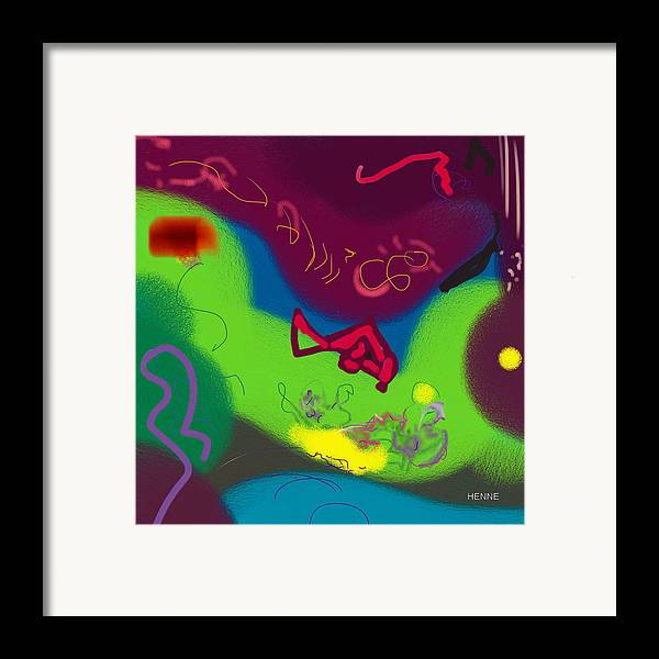 Digital Framed Print featuring the painting Thought by Robert Henne