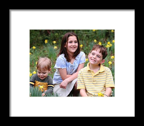 Spring Framed Print featuring the photograph Thoughts Of Spring - J Family by Lisa Johnston