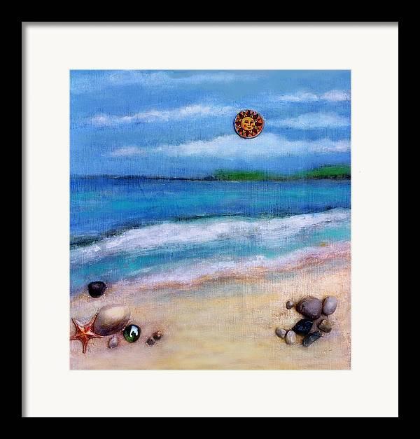 Beach Framed Print featuring the painting Three Beaches A by Mary Ann Leitch