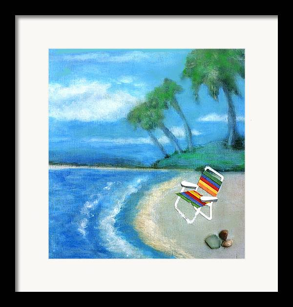 Beach Framed Print featuring the painting Three Beaches B by Mary Ann Leitch