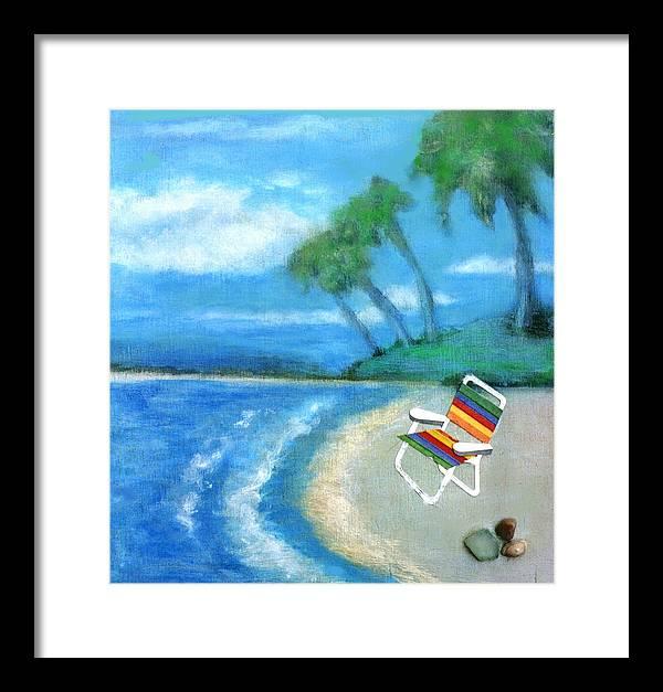 Beach Framed Print featuring the painting Three Beaches B by Mary Ann Leitch