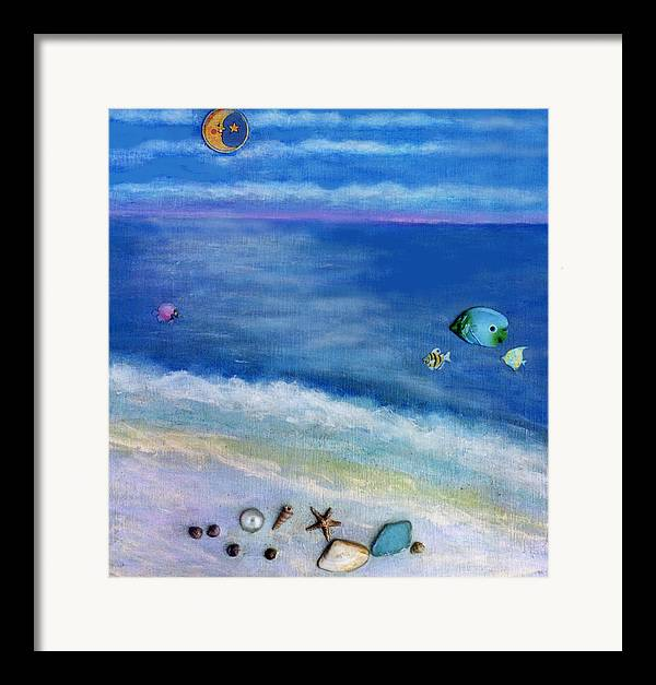 Beach Framed Print featuring the painting Three Beaches C by Mary Ann Leitch