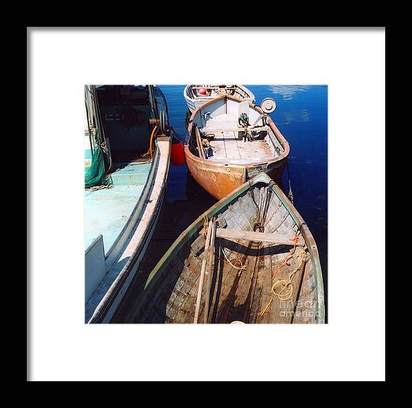 Boats Framed Print featuring the photograph Three Boats by Andrea Simon