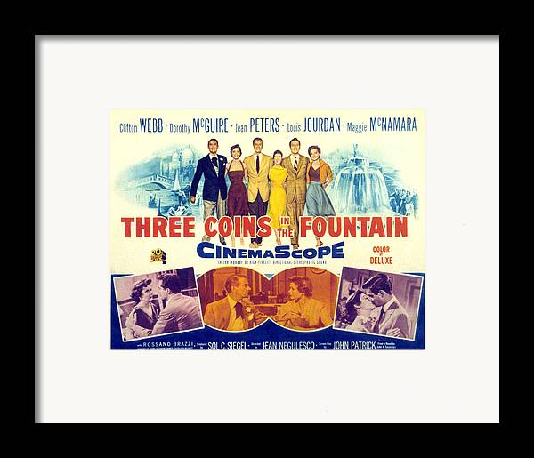 1950s Fashion Framed Print featuring the photograph Three Coins In The Fountain, Clifton by Everett