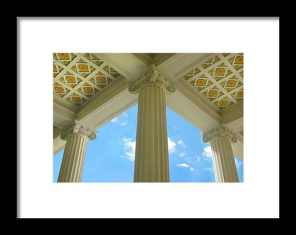 Archetecture Framed Print featuring the photograph Three Columns by Dan Holm