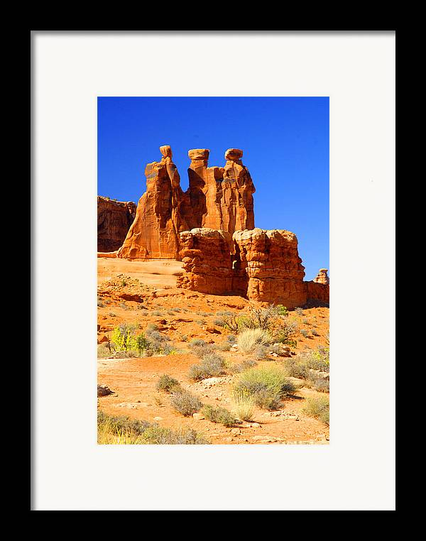 Arches Framed Print featuring the photograph Three Gossips by Dennis Hammer