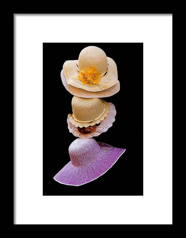 Hats Framed Print featuring the photograph Three Hats by Xavier Cardell