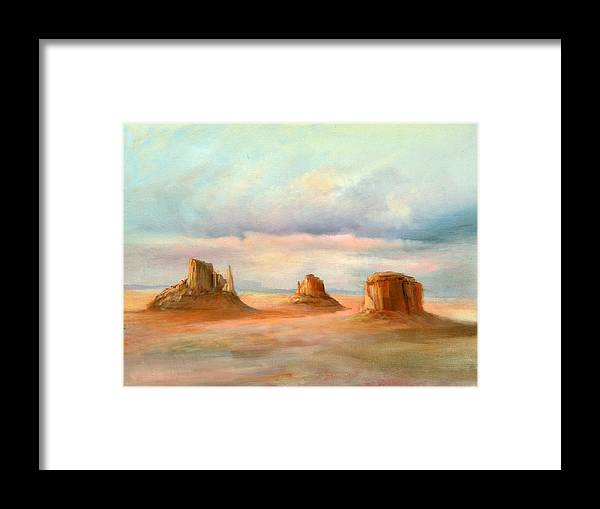 Southwest Framed Print featuring the painting Three Kings by Sally Seago