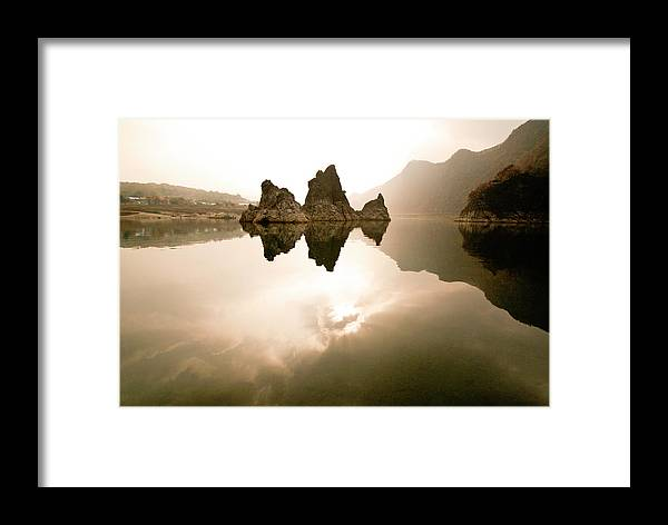 Asia Framed Print featuring the photograph Three Peaks by Michele Burgess