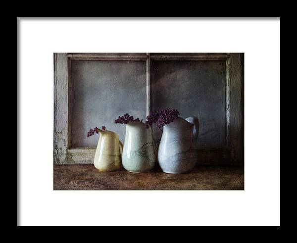 Three Pitchers Framed Print featuring the photograph Three Pitchers by Nichon Thorstrom