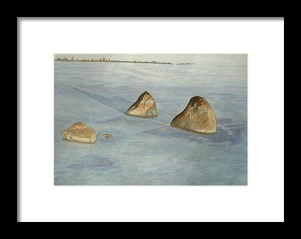 Lakescape Framed Print featuring the painting Three Sisters by Lynn ACourt