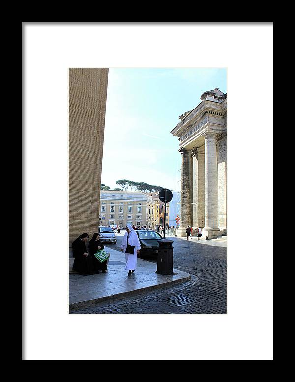 Rome Framed Print featuring the photograph Three Sisters by Munir Alawi