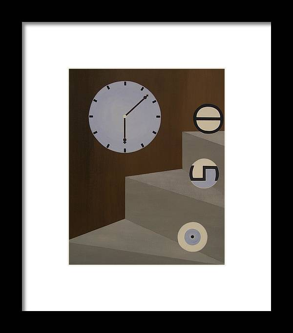 Time Framed Print featuring the painting Three Stages Of Life by Sandy Bostelman
