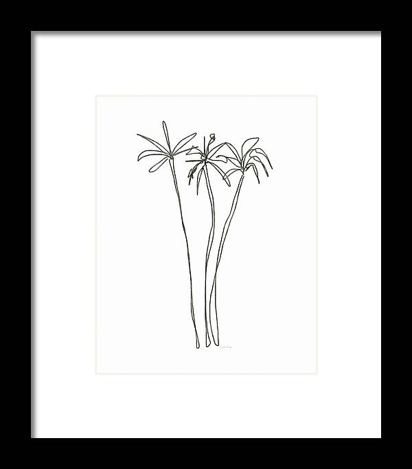 Three Tall Palm Trees- Art By Linda Woods Framed Print by Linda Woods