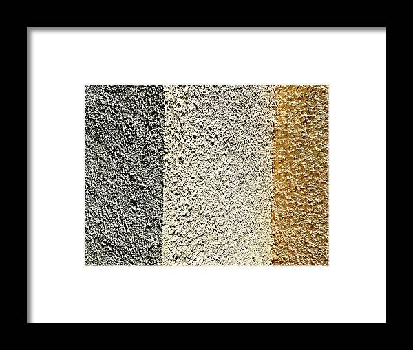 Three Framed Print featuring the photograph Three Textures by HazelPhoto