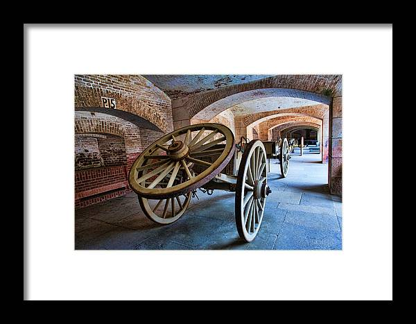 Fort Point Framed Print featuring the photograph Three Wheeled Wagon by Larry Fry