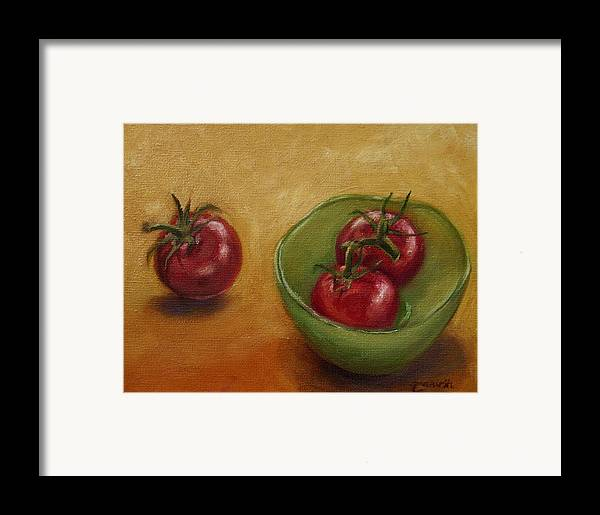 Food Framed Print featuring the painting Three's A Crowd by Tahirih Goffic