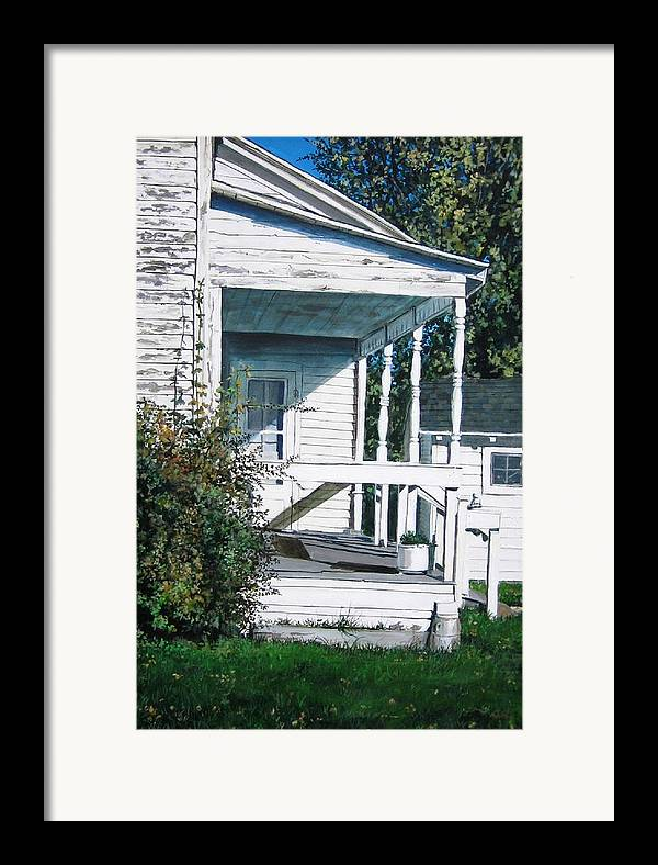 Farmhouse Framed Print featuring the painting Threshold by William Brody