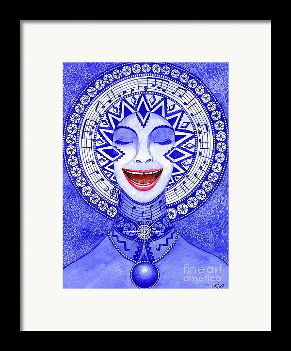 Chakra Framed Print featuring the painting Throat Chakra by Catherine G McElroy